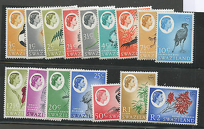 Swaziland QEII issue complete set of 16 Sc #92-107 VF MNH