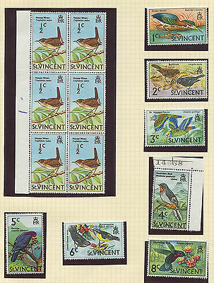 St Vincent 1970 Bird issue complete Sc #279-294 MNH - see both scans
