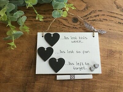 Diet Weight Loss Chalk Board Plaque Slimming World-Weight Watchers Tracker ❤❤❤❤❤