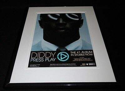 P Diddy 2007 Press Play 11x14 Framed ORIGINAL Vintage Advertisement