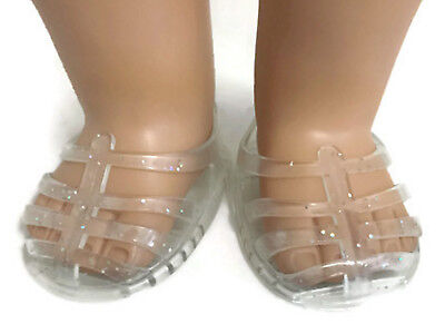 4ff27697bff1ff Clear Glitter Jelly Sandal Shoes made for 18