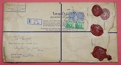 1956 Ireland Uprated Registered Letter Stationery Thurles To Dublin