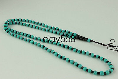 Chinese hand woven necklace Artificial Turquoise Beads pendant Accessories QQ231