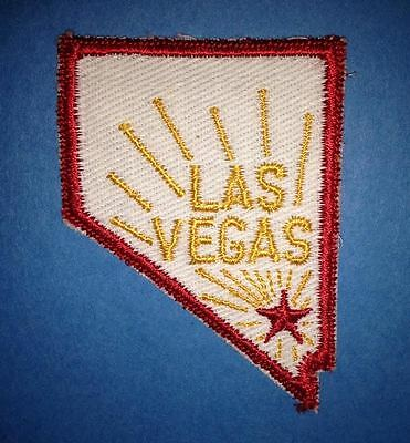 Vintage Las VegasSew On Hat Jacket Biker Vest Backpack Travel Patch Crest A