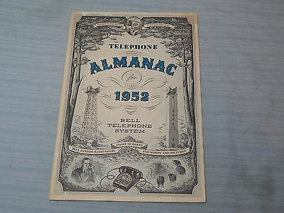 1952 Bell Telephone System Almanac Vintage Paper