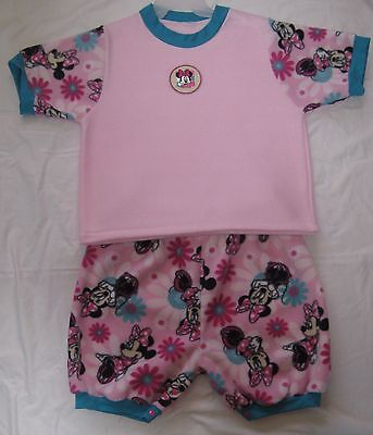 "Adult Baby 41"" FLEECE TOP w/ 50"" SNAP SHORTS, by LL"