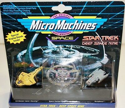 Star Trek : Micromachines Cardassian Galor Warship, Space Station Ds9 & Runabout