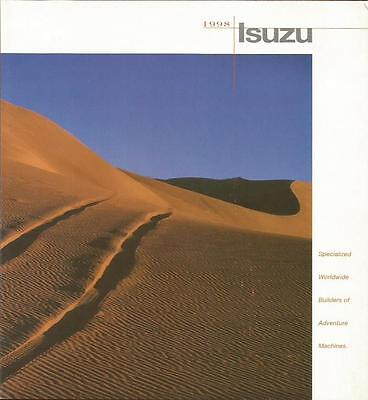 ADVERTISING SALES BROCHURE - 1998 – ISUZU AUTOMOBILES – 10 Page Foldout.
