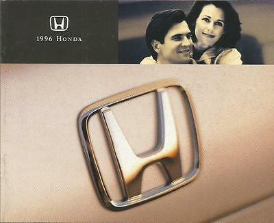 ADVERTISING SALES BROCHURE - 1996 – HONDA AUTOMOBILES – 24 Pages