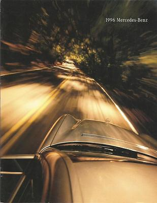 ADVERTISING SALES BROCHURE - 1996 – MERCEDES BENZ AUTOMOBILES – 24 Pages