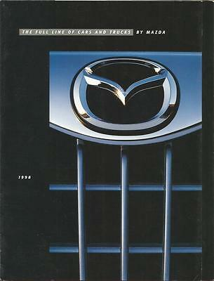 ADVERTISING SALES BROCHURE - 1998 – MAZDA AUTOMOBILES – 8 Pages, Fold-out