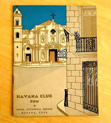 HAVANA CLUB RUM 1930's Advertising Booklet COCKTAILS Recipes LONG DRINKS Cuba