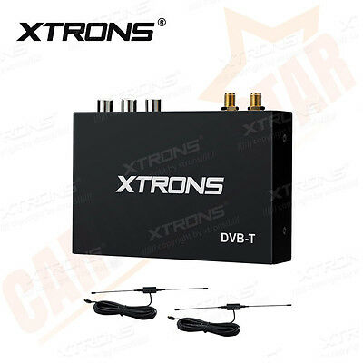 XTRONS Digital TV Box Tuner DVB-T Freeview Receiver Remote Control + 2 Aerial