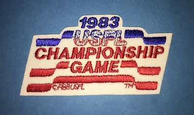 Rare Vintage 1983 USFL Championship Game Football Jacket Backpack Patch Crest