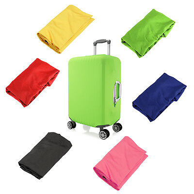 "Solid Elastic Luggage Suitcase Cover Protective 18""- 28"" Bag Dustproof Case"