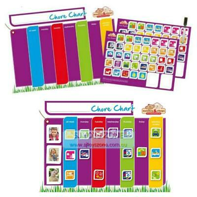 Monkey & Chops Magnetic Chore Chart Kids Daily Activity Educational Family Tool