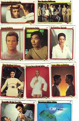 40 Different Assorted 1979 Star Trek Paramount Pictures Cards