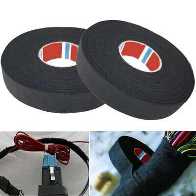 15/25/50M Adhesive Fabric Cloth Tape Cable Looms Wiring Printing Masking Tool