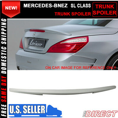Painted ABS For Mercedes Benz W218 CLS-Class Rear Trunk Spoiler Wing #799 White