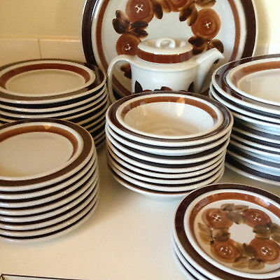 Arabia Finland Rosemarin Dinner Set 30 Pc Scandinavian Vintage Pick Up VIC 3054
