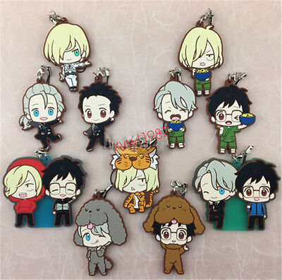 New Japan Anime YURI!!! on ICE Victor Nikiforov Rubber Strap Keychian XMAS Gift