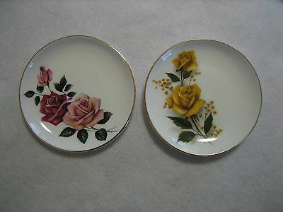 Pair of Queen Anne Roses Pin Dishes