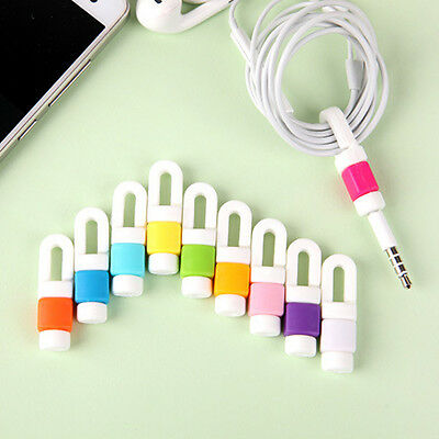 Protective Cable Earphone Cord Protector Organizer Winder Wrap Holder