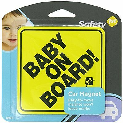 Baby On Board Sign Magnet Infants Kids Toddlers Safety 1st For Auto Car Vehicles