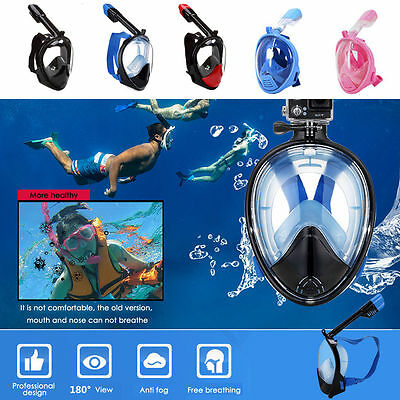 Breath Tool Full Face Snorkeling Mask Scuba Diving Swimming Snorkel for Gopro UK