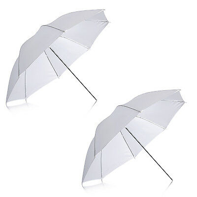 Neewer 2pz Ombrello Bianco Morbido Traslucido 84cm per Fotografia Video