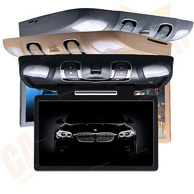 "15.6"" Digital Screen Car Roof DVD Player Flip Down Overhead Monitor USB SD AUX"