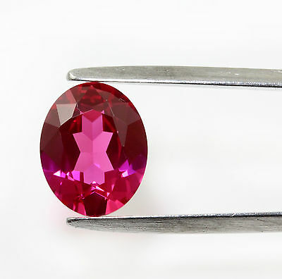 "Lab - Created  Oval "" Ruby ""  Faceted Stones 8x6 mm, 10x8 mm Gemstones"