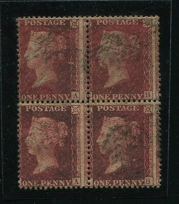 Great Britain Penny Red Block Of Four