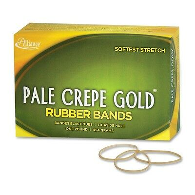"""Pale Crepe Gold Rubber Band - Size: #16 - 2.50"""" Length x 0.13"""" Width - 2675..."""