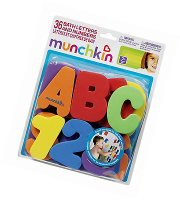 Munchkin Bath Letters and Numbers, 36 count Kids Bath Tub Educational Toy Set