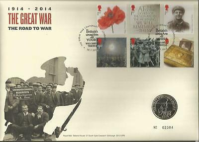 1914-1919 The Great War war on land £2i coin FDC Royal Mint Official cover C12