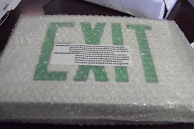 Emergency LED Exit Sign w/Green Letters