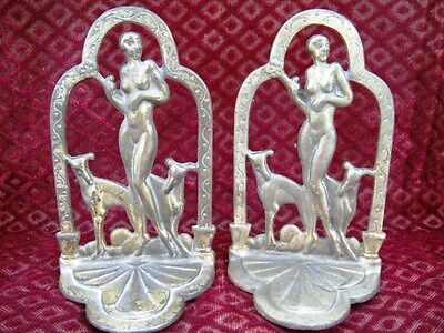 """Vintage """"ART DECO"""" Book Ends   """"Deco"""" to the Max  1920's"""