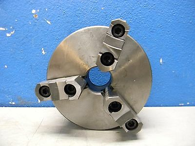 """Interstate 6"""" dia 3 Jaw Self Centering Manual Lathe Chuck with Plain Back Mount"""