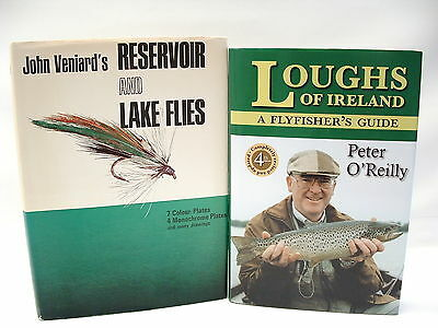 2 BOOKS: Lough's A Flyfisher's Guide *SIGNED* & Vernard's Reservoir & Lake Flies