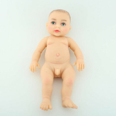Green-Eyed Reborn Baby BOY Full Body Realistic Doll Silicone Education Toy Cute