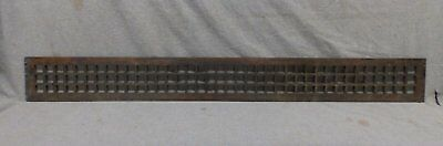 Long Narrow Antique Cast Iron Grill Cold Air Return Vent Heat 45x4 Vtg 254-17R