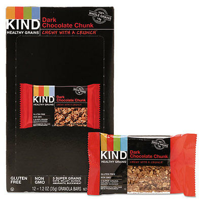 Healthy Grains Bar, Dark Chocolate Chunk, 1.2 oz, 12/Box