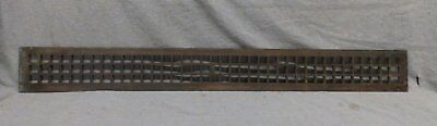 Long Narrow Antique Cast Iron Grill Cold Air Return Vent Heat 45x4 Vtg 255-17R