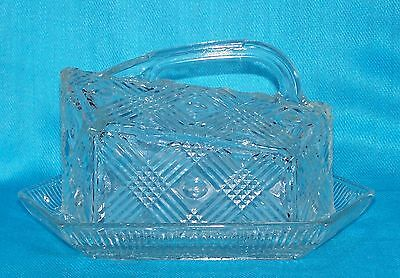 Stunning Victorian Heavily Decorated Pressed Glass Cheese Dish - 22 cm