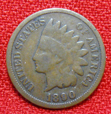 1890 United States Indian Head Cent   (.99 Cent) Shipping