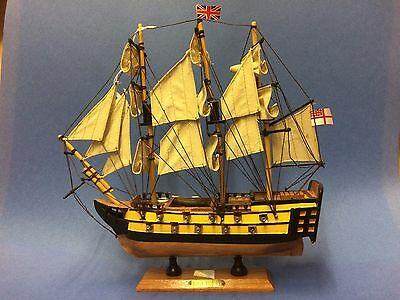 "Antique Wooden Model Hms Victory British Battle Ship 13"" X 12"""