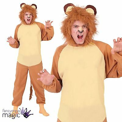 Adults Mens Ladies Lion Zoo Jungle Wild King Animal Fancy Dress Costume Outfit