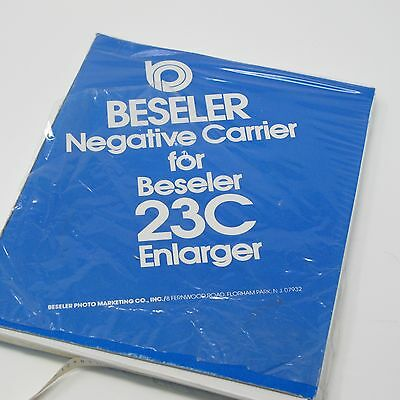 645 Negative film Carrier for Beseler 23c Enlarger with Original Box