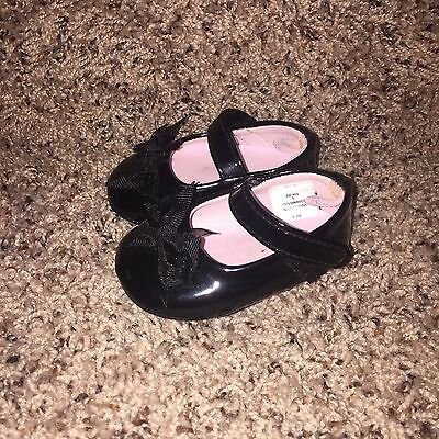 Baby Girl Black Dress Shoes Size 1